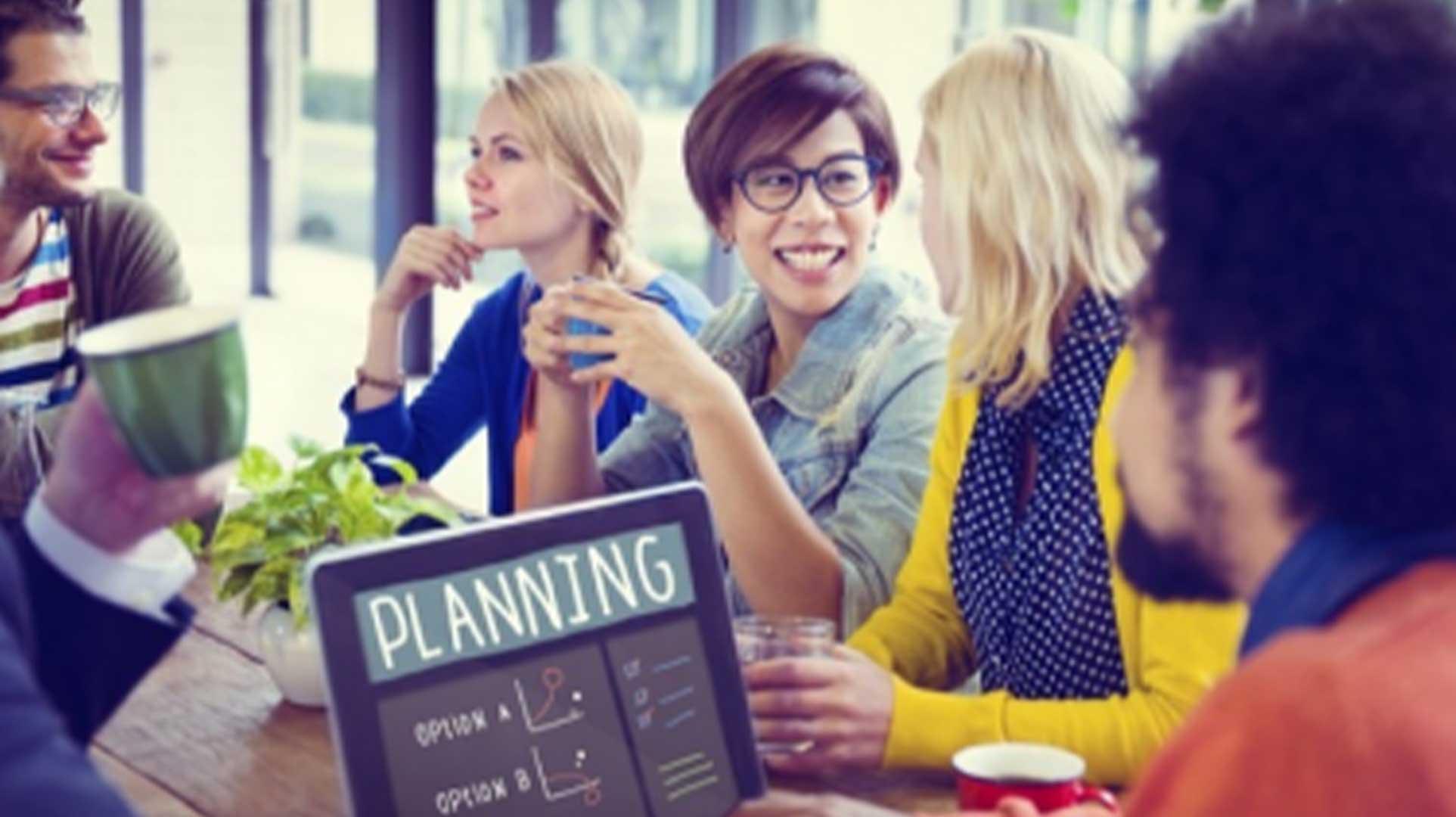 vue réunion marketing